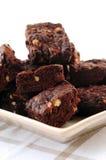 Brownie hechos en casa del chocolate Fotos de archivo libres de regalías