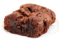 Brownie hechos en casa del chocolate Foto de archivo