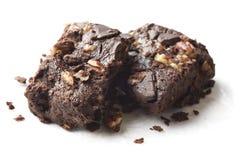 Brownie hechos en casa del chocolate fotos de archivo