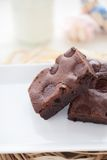 Brownie hechos en casa del dulce de azúcar cauchutoso Imagen de archivo libre de regalías