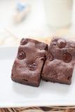 Brownie hechos en casa del dulce de azúcar cauchutoso Imagenes de archivo
