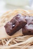 Brownie hechos en casa del dulce de azúcar cauchutoso fotos de archivo