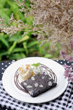 Brownie with ice cream Royalty Free Stock Photos