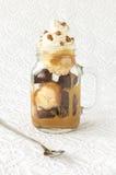 Brownie Ice Cream Sundae Imágenes de archivo libres de regalías