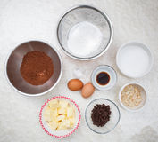 Brownie ingredient Royalty Free Stock Photography