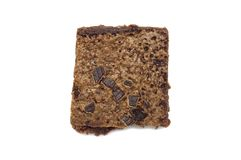 Brownie isolated on white background. royalty free stock photography