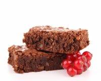 Brownie isolato Immagine Stock Libera da Diritti