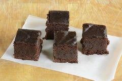 Brownie liberi del cioccolato del glutine Immagini Stock