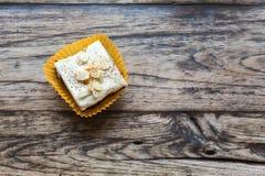 Brownie met witte chocolade royalty-vrije stock fotografie