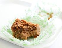 Brownie no branco Foto de Stock