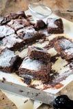 Brownie oscuros Foto de archivo libre de regalías
