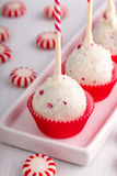 Brownie Peppermint Cake Pops Fotos de Stock