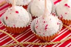 Brownie Peppermint Cake Pops Royalty Free Stock Photo