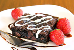 Brownie on a plate Stock Images