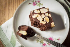 Brownie on plate. Stock Photography