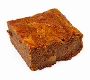 Brownie with pumpkin Stock Image