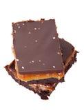 Brownie salados del caramelo del chocolate Imagen de archivo libre de regalías