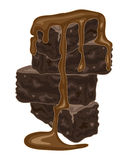 Brownie stack Royalty Free Stock Image
