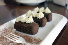 Brownie tradicional recentemente cozinhada do soviete do russo ou do cargo imagem de stock