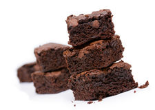 Brownie on white background Royalty Free Stock Images