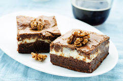 Brownie With Cream Cheese Royalty Free Stock Image