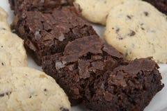 Brownie y galletas Imagenes de archivo