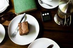 BROWNIE Y TRABAJO, LIA del  de BRASà - 23 de diciembre de 2016: marrón delicioso Foto de archivo