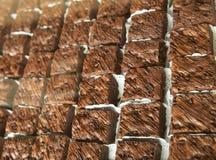 Browniecake met chocolade wordt gemengd die stock fotografie