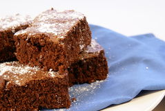 brownies κονιοποιημένη ζάχαρη Στοκ Φωτογραφία