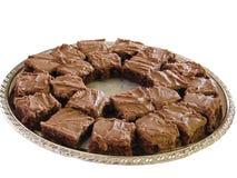 brownies πιάτο Στοκ εικόνες με δικαίωμα ελεύθερης χρήσης