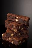 brownies σοκολάτα στοκ εικόνα