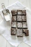 brownies σοκολάτα Στοκ φωτογραφίες με δικαίωμα ελεύθερης χρήσης