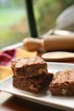 brownies σπιτικός Στοκ φωτογραφία με δικαίωμα ελεύθερης χρήσης