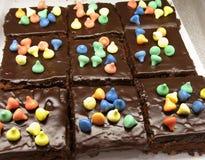 brownies το διπλάσιο μεταχειρίζ Στοκ εικόνα με δικαίωμα ελεύθερης χρήσης