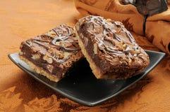 brownies φοντάν σοκολάτας Στοκ Φωτογραφία