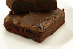 brownies φοντάν Στοκ Φωτογραφίες