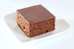 Brownies. Fresh slices of backed chocolate cake Royalty Free Stock Image