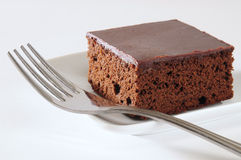 Brownies. Fresh slices of backed chocolate cake Royalty Free Stock Photography