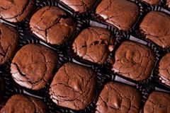 Brownies from above Royalty Free Stock Image
