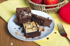 Brownies 4. Baking some brownies type with many ingredient royalty free stock photos