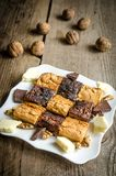 Brownies and blondies Royalty Free Stock Photos