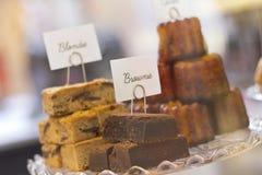 Brownies and Blondies Stock Photo