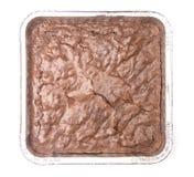 Brownies caseiros do chocolate fotografia de stock