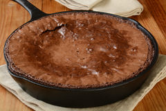 Brownies in a cast iron skillet Stock Image