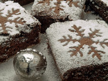 Brownies for christmas Royalty Free Stock Images