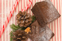 Brownies at Christmas Stock Images