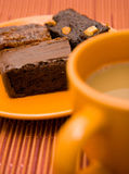 Brownies and coffee Stock Photography
