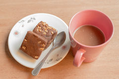 Brownies and Coffee Royalty Free Stock Images
