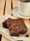 Brownies and coffee Stock Photo