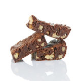 Brownies com nozes Imagens de Stock